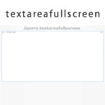 jQuery textarea full screen plugin