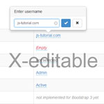 X-editable - Create editable elements on your page