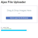 Ajax File uploader with drag and drop