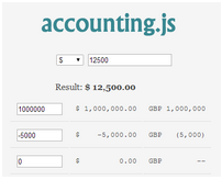 accounting.js – Format Money / Currency