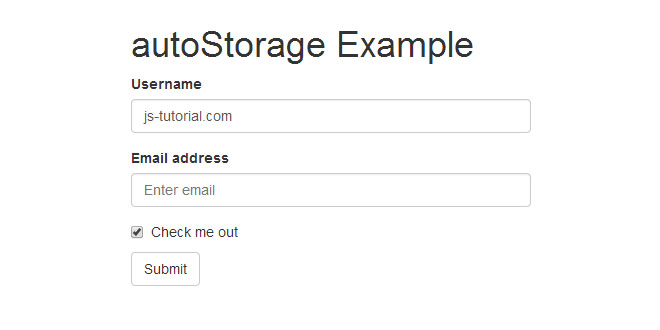 autoStorage - jQuery plugin for automatic webstorage