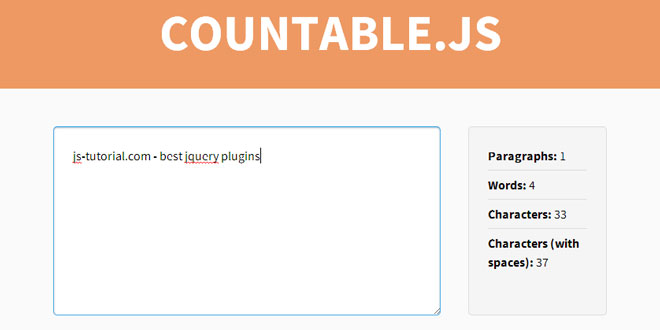 Countable - Add live paragraph, word and character counting
