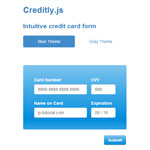 Creditly.js - An intuitive credit card form