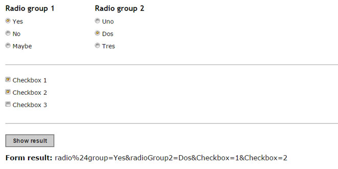 jQuery Custom Radio Checkbox plugin