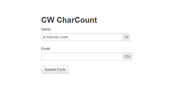 CW CharCount - Displays the remaining character count