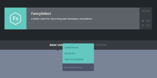 FancySelect - A better select for discerning web developers