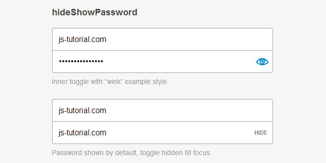Hide/Show Passwords