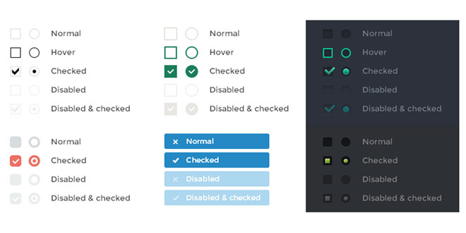 iCheck - Customizable checkboxes and radio buttons