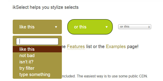 ikSelect - Stylize html selects using jQuery