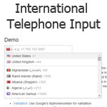 International Telephone Input