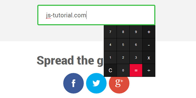 jCalculator - Awesome jQuery plugin for calculator inputs