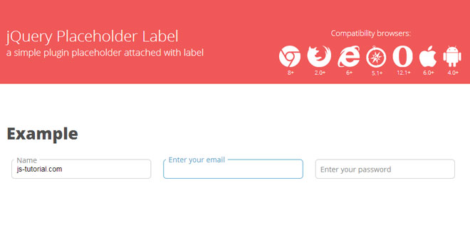 jQuery Placeholder Label