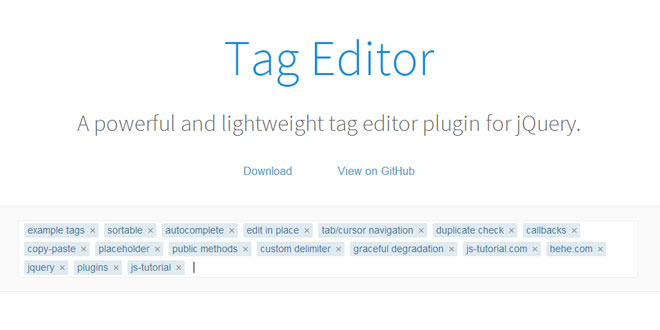 Tag Editor - A powerful and lightweight tag editor plugin