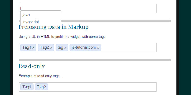 jquery Tag-it - Simple and configurable tag editing