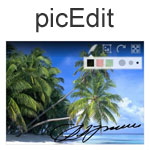 picEdit - Perform image rotations, cropping, resizing and pen tool