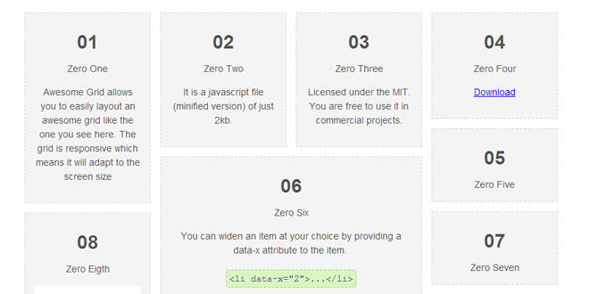 Awesome Grid - Responsive grid layout