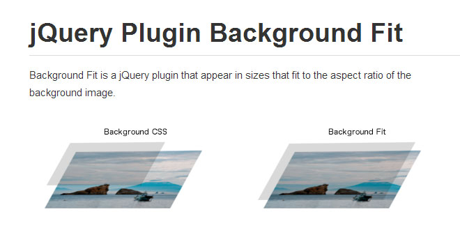 jQuery Plugin Background Fit