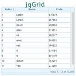 Js Tutorial - jqGrid – jQuery Grid Plugin