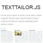 TextTailor.js - Made text to fit your needs