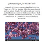 Responsive Video  - jQuery Plugin for Fluid Video