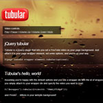 jQuery tubular - Set a YouTube video as page background
