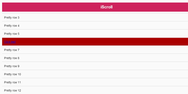 iScroll – Smooth Scrolling