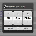Mobi Pick - Android-style datepicker widget