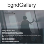 BgndGallery - A sliding photogallery as background