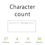 Simple character count using jquery