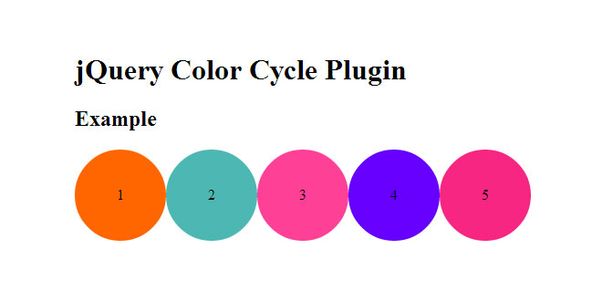 jQuery Color Cycle Plugin