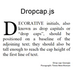 dropcap.js - Beautiful CSS drop caps made easy