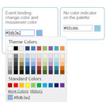 Evol.colorpicker - jQuery UI widget for color picking
