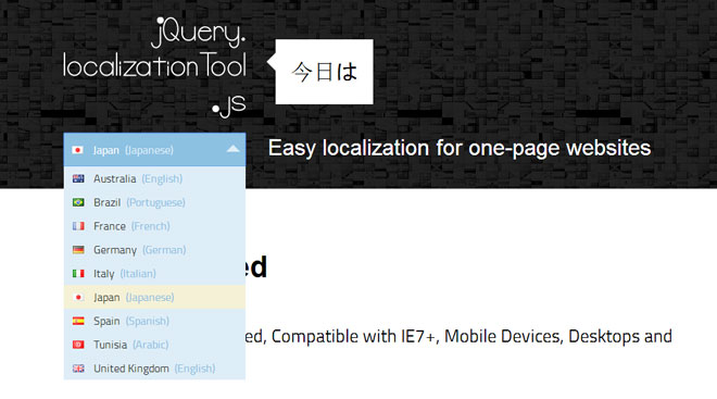 jQuery Localization Tool - Easy localization for one-page websites