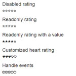 Bootstrap Rating