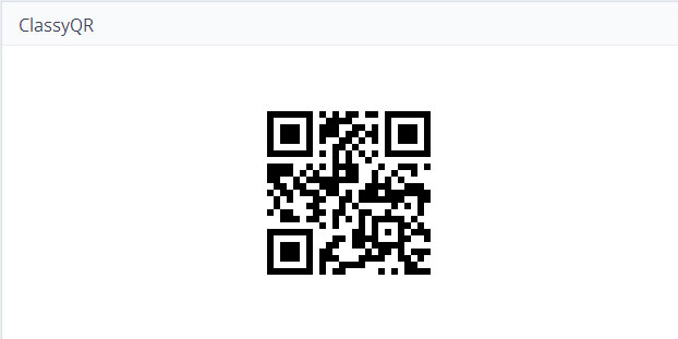 ClassyQR - QR codes, the easy way!