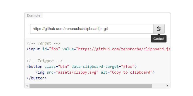 Js Tutorial - Clipboard js - Modern copy to clipboard
