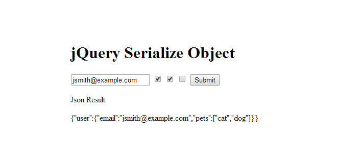 Serialize Object - Converts HTML form into JavaScript object