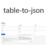 Table to JSON