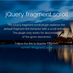 jQuery fragment scroll