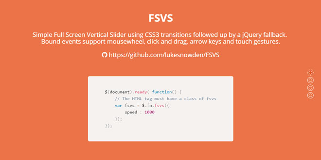 FSVS - Full Screen Vertical Scroll