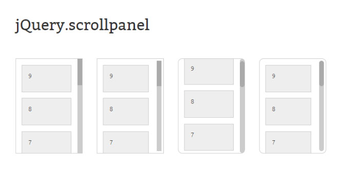 jQuery Scrollpanel - Simple vertical scrollpanel