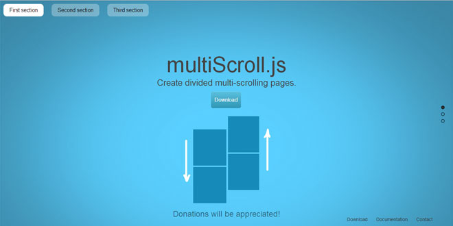 MultiScroll.js - Create divided multi-scrolling pages