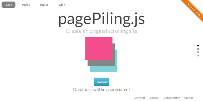 pagePiling.js - Create an original scrolling site