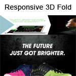 Responsive 3D Fold Animation on Scroll