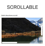Scrollable -  Replace default scrollbars with a customisable one