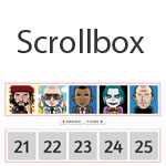 Scrollbox -  Scroll a list like carousel or traditional marquee