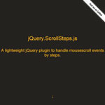 jQuery Scrollsteps - Handle mouse scrolling by steps