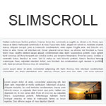slimScroll - Transforms any div into a scrollable area