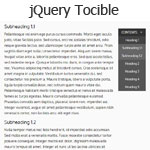 jQuery Tocible - A Table Of Contents navigation