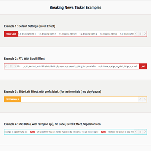 Jquery Breaking News Ticker